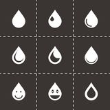 Vector drop icon set Stock Images