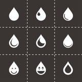 Vector drop icon set Stock Illustration