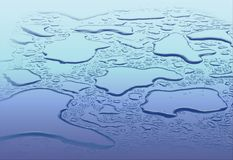 Vector of the drop water.  Royalty Free Stock Image