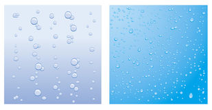 Vector droplet backgrounds. Two  water droplets backgrounds Royalty Free Stock Photos