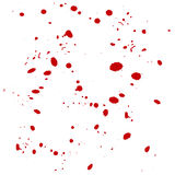 Vector drops blood background Royalty Free Stock Images
