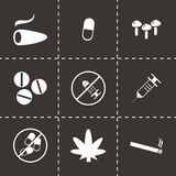 Vector drugs icons set Royalty Free Stock Images
