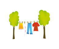 Vector dry washing Royalty Free Stock Photography
