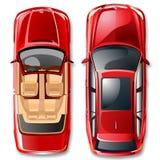 Vector Duitse auto's. Stock Afbeeldingen