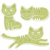 Vector dulce de los gatos Imagen de archivo