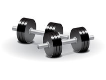 Vector dumbbells Stock Image