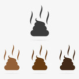 Vector dung icons. Set of clean vector color dung symbol icons Stock Photo