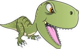 Vector duro de T-Rex del dinosaurio Imágenes de archivo libres de regalías