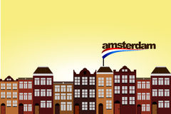 Vector Dutch Houses Royalty Free Stock Image