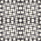 Vector dwarsbroedselpatroon Abstracte naadloze textuur met dunne lijnen, strepen Royalty-vrije Stock Foto's