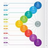 Vector dynamic infographics of technology or education process. Royalty Free Stock Image