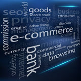 Vector E-commerce cloud Stock Images