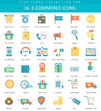 Vector e-commerce color flat icon set. Elegant style design. Royalty Free Stock Image