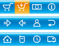 Vector E-Commerce Icon Set Stock Image
