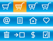 Vector E-Commerce Icon Set Royalty Free Stock Image