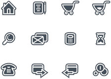 Vector E-Commerce Icon Set. Original vector icons for web, software etc. on white background Royalty Free Stock Photography