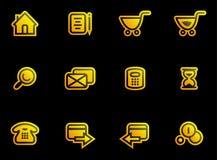 Vector E-Commerce Icon Set Stock Image