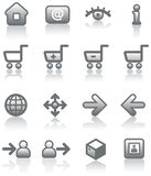 Vector E-Commerce Icon Set Stock Images