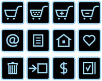 Vector E-Commerce Icon Set Royalty Free Stock Photography
