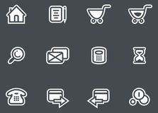 Vector E-Commerce Icon Set Royalty Free Stock Images