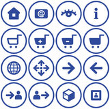 Vector e-commerce icons set Royalty Free Stock Image