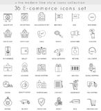 Vector e-commerce ultra modern outline line icons for web and apps. Stock Images