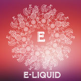 Vector E-Liquid illustration of different flavor Stock Photo