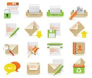 Vector E-mail Icon Set Royalty Free Stock Image