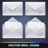 Vector E-Mail Icons Stock Images