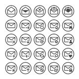 Vector e-mail icons. Set of vector icons of universal e-mail Royalty Free Stock Images