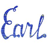 Earl name lettering tinsels Royalty Free Stock Images