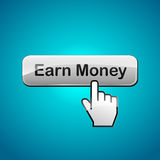 Vector earn money illustration Stock Image