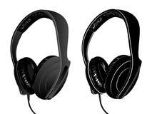 Vector earphones. Vector image of earphones isolated on white Stock Photos