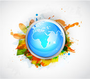 Vector Earth globe conceptual background Royalty Free Stock Image