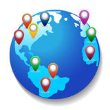 Vector earth icon Royalty Free Stock Photography