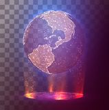 Vector earth planet on abstract background. Vector earth planet on bright abstract background Stock Images