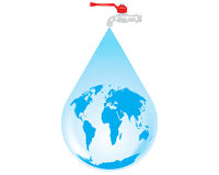Vector earth water drop Royalty Free Stock Photo