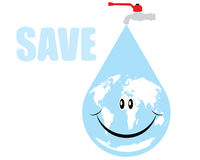 Vector earth water drop Stock Photo