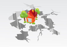 Vector earthquake image Stock Photos