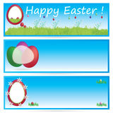 Vector Easter banner set Royalty Free Stock Photography