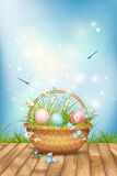 Vector Easter Basket Royalty Free Stock Photos