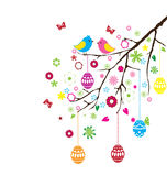 Vector Easter Branch Royalty Free Stock Images
