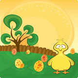 Vector Easter card Stock Photography