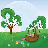 Vector Easter card royalty free stock photos