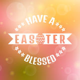 Vector Easter card. Blurred background. Royalty Free Stock Photos