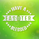 Vector Easter card with blurred background. Stock Images
