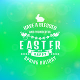 Vector Easter card. Blurred background. Royalty Free Stock Photo