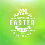 Vector Easter card. Blurred background. Stock Photos