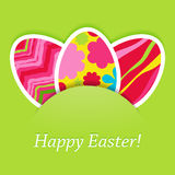 Vector easter card with eggs. Stock Images