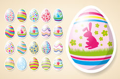 Vector Easter Card Royalty Free Stock Photos